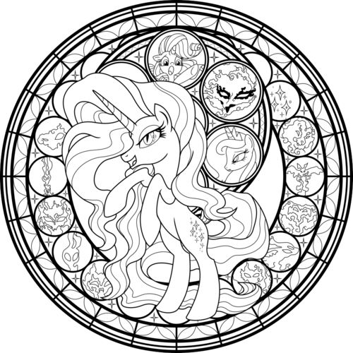 my little pony friendship is magic wallpaper entitled My Little pony Colouring Sheets - Nightmare Rarity