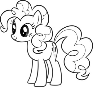 My Little kuda, kuda kecil Colouring Sheets - Pinkie Pie