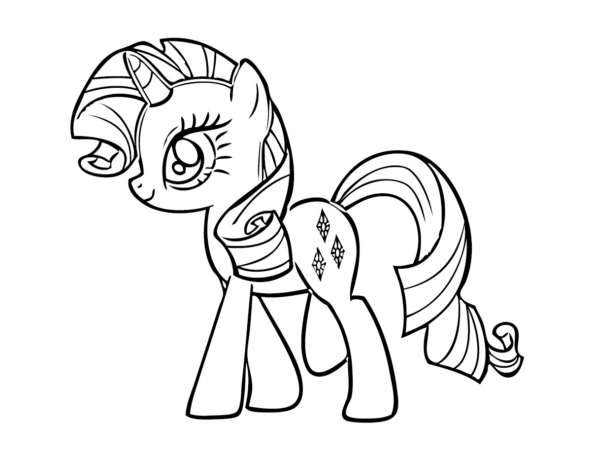 My Little kuda, kuda kecil Colouring Sheets - Rarity