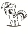 My Little gppony, pony Colouring Sheets - Twilight Sparkle Filly