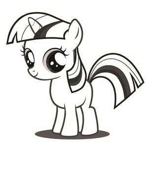 My Little ٹٹو Colouring Sheets - Twilight Sparkle Filly