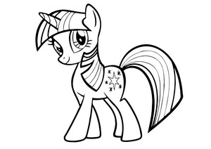 My Little kuda, kuda kecil Colouring Sheets - Twilight Sparkle