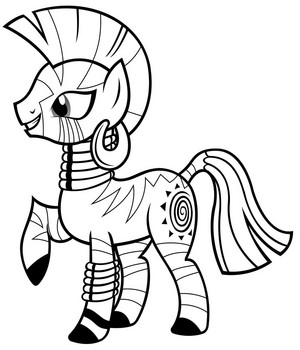 My Little kuda, kuda kecil Colouring Sheets - Zecora