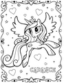 My Little kuda, kuda kecil Colouring Sheets - Princess Cadance