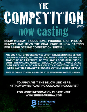 NOW CASTING MTV's The Competition (wt)