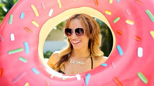 WWE Divas wallpaper containing sunglasses titled NXT Summer Vacation - Sasha Banks
