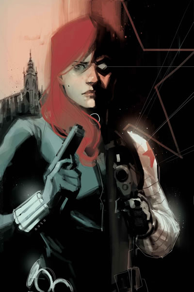 Natasha Romanoff and Winter Soldier - comics de marvel foto