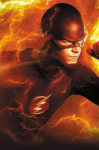 The Flash (CW) দেওয়ালপত্র probably containing a আগুন and a sign called New Promo Image