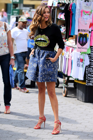 Nina filming in New York - August 4th