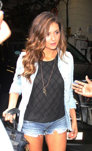 Nina leaving Live with Kelly & Michael in New York - August 4th