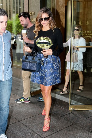 Nina leaving SiriusXM Studios in New York - August 4th