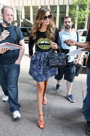 Nina leaving SiriusXM Studios in New York - August 4th