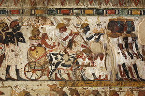 Nubians Bringing oro to The Pharaoh