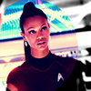 Star Trek (2009) photo containing a portrait called Nyota Uhura
