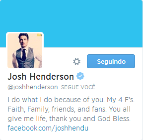 OMG! OMG! OMG!!! Josh Henderson Followed Me on Twitter TODAY!!!