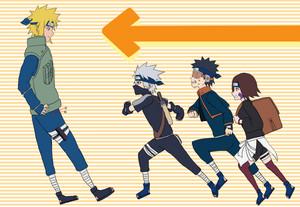 Obito Uchiha, kakashi Hatake, Minato and Rin