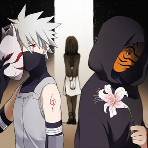 Obito Uchiha, Kakashi Hatake and Rin