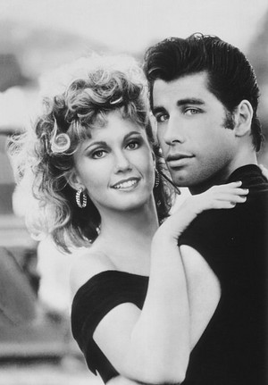 Olivia and John In Grease