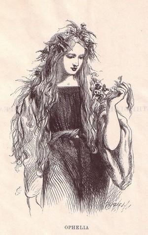 Ophelia in Hamlet, Act IV sc 5