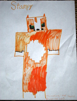 Our drawing of Stampy