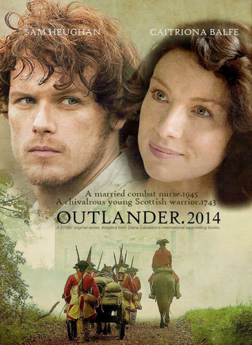 serial tv outlander 2014 wallpaper containing a sign entitled Outlander 2014
