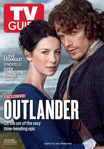 outlander serie de televisión 2014 fondo de pantalla containing anime titled Outlander - TV Guide Cover