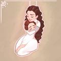 Padme Amidala and Leia Organa