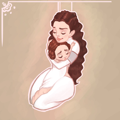 Padme Amidala and Leia Organa
