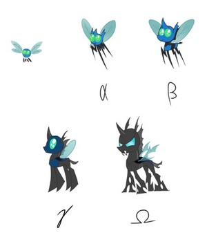 Parasprites-->Changelings