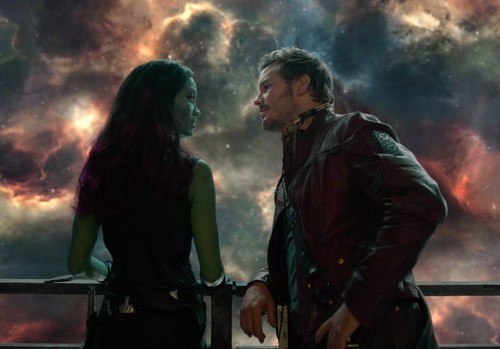 Guardians of the Galaxy 바탕화면 containing a 불, 화재 called Peter and Gamora