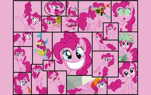 My Little Pony Friendship Is Magic Wallpaper Possibly With A Stained Glass Window And Anime Called Pinkie Pie Collage