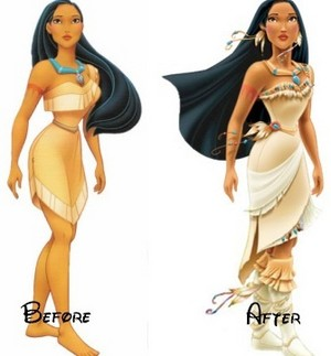 Pocahontas loves Mason so much she changed her design.