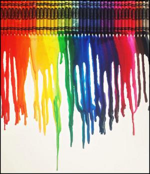 pelangi, rainbow crayons