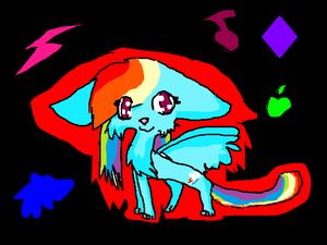 Rainbow dash as a cat