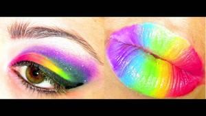 pelangi, rainbow makeup