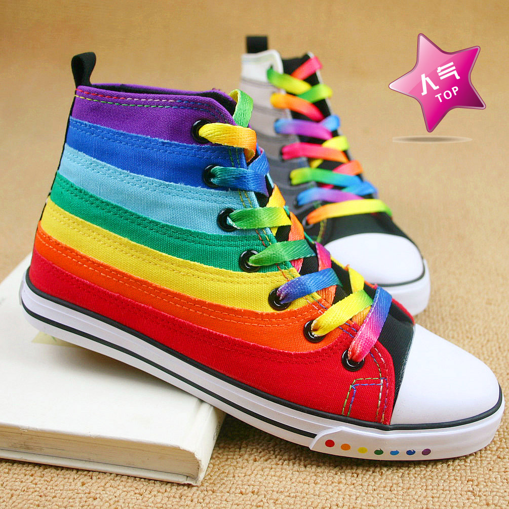 Rainbow Colored Converse Shoes
