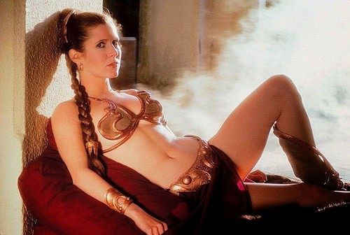 étoile, étoile, star Wars fond d'écran probably with attractiveness, a lingerie, and a bustier entitled Rare Slave Leia picture