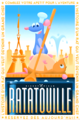 Ratatouille posters inspired by 1920's French style illustrations