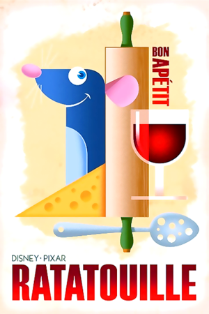 Ratatouille posters inspired da 1920's French style illustrations