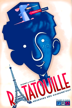 ratatouille posters inspired por 1920's French style illustrations