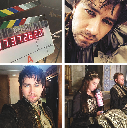 Reign [TV Show] fondo de pantalla probably containing a sign, a diner, and a calle titled Reign Season 2 / Filming