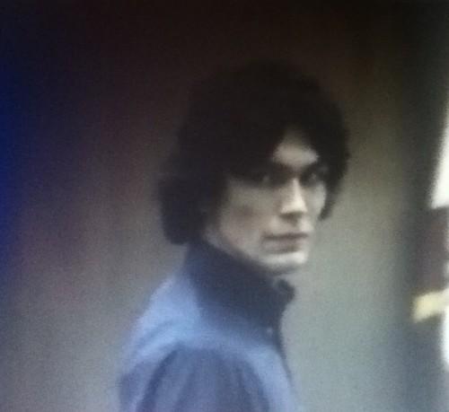 Serial Killers Hintergrund with a bearskin titled Richard Ramirez