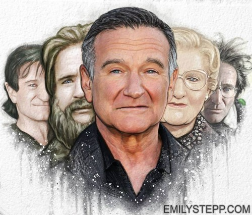 Robin Williams Hintergrund probably with a portrait entitled Robin Williams