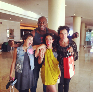 Rosabell Laurenti Sellers, Keisha Castle-Hughes, Toby Sebastian and DeObia Oparei
