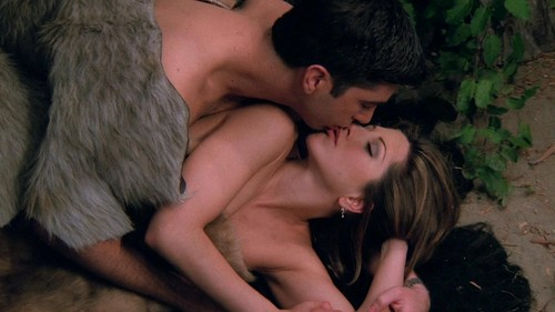 ویژن ٹیلی & Movie Couples پیپر وال containing a فر, سمور کوٹ called Ross and Rachel