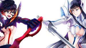 Ryuuko and Satsuki (kill la kill)