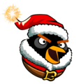 Santa Black Bomb Bird - angry-birds photo