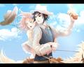 Sasuke Uchiha and Sakura Haruno - sasusaku wallpaper