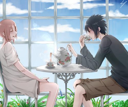 Uchiha Sasuke images Sasuke Uchiha and Sakura Haruno HD wallpaper and ...
