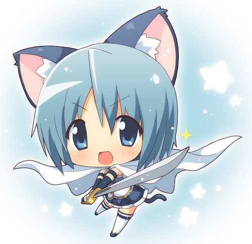 Puella Magi Madoka Magica wallpaper possibly containing Anime called Sayaka Miki chibi